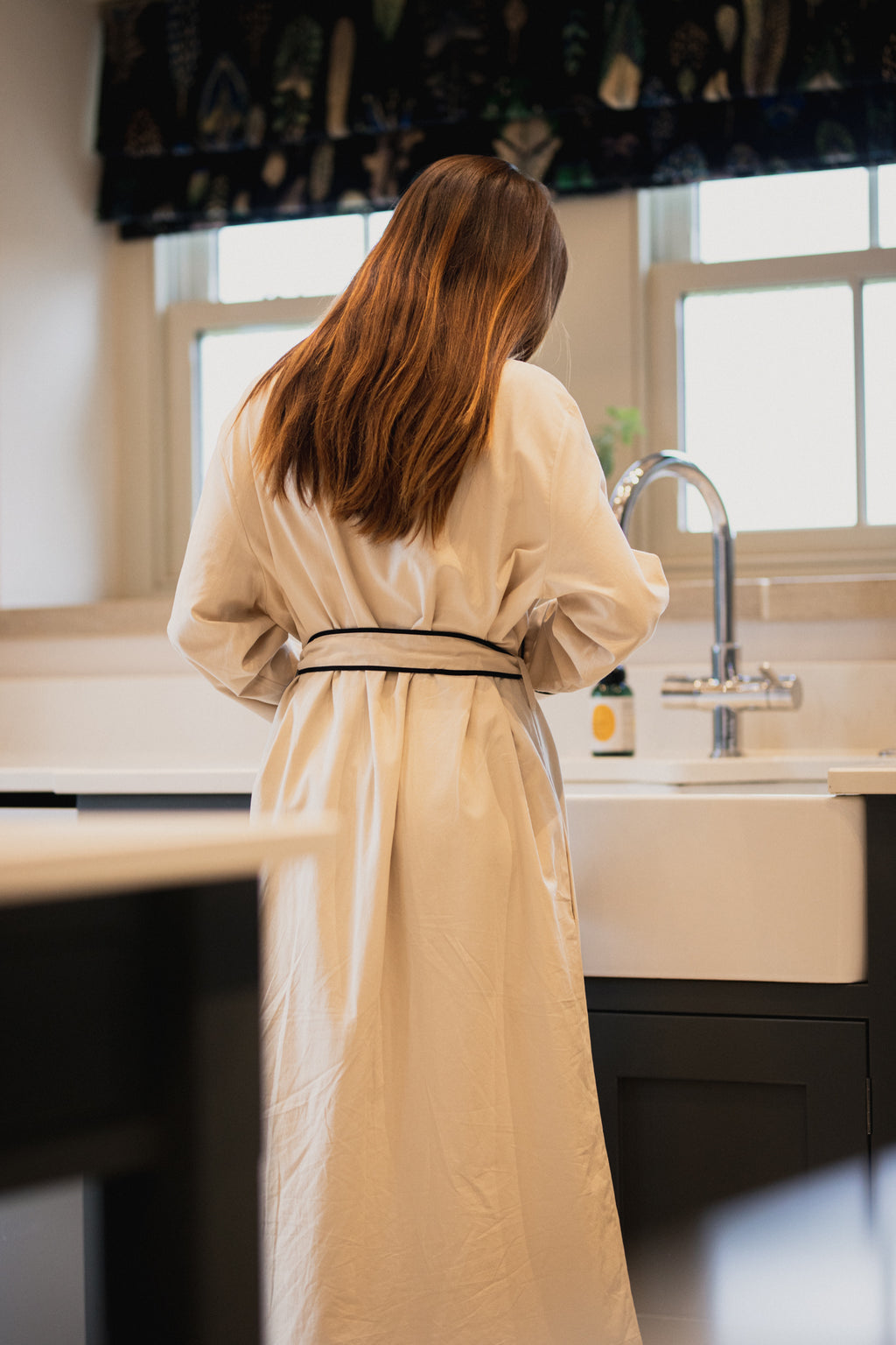 Organic Cotton Robe Wheat