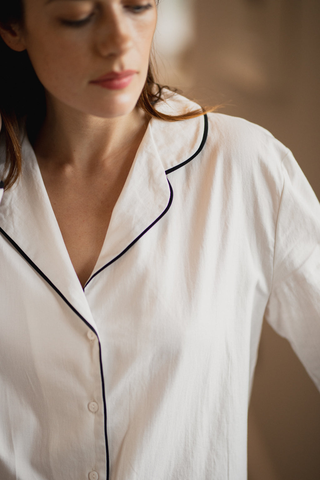 Organic Cotton Pyjama White