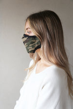 Womens Non Medical Face Mask CAMO Green