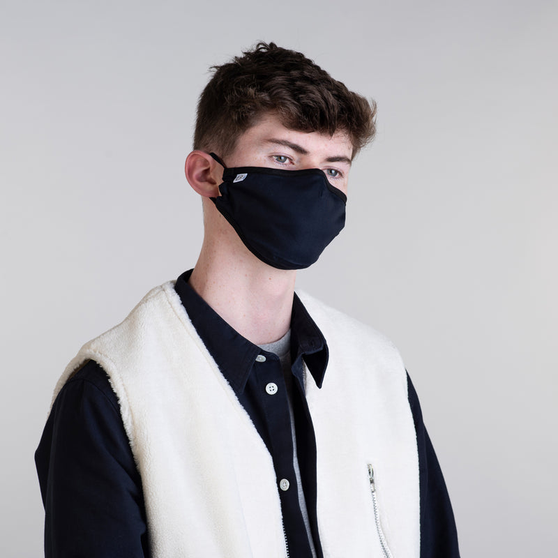 Mens Organic Cotton Face Covering Navy
