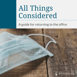 eBook: Returning to the Office
