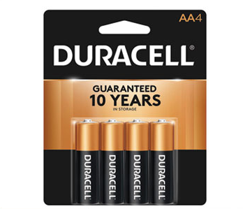 Duracell CopperTop Alkaline AA Batteries (4 Pack)