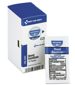 Hand Sanitizer, Individual Packets (10/Box)