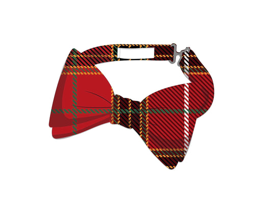 Matching boys bow tie for Winter Plaid