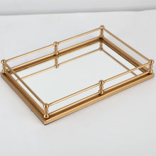 Load image into Gallery viewer, Rectangular Mirror Tray - Gold