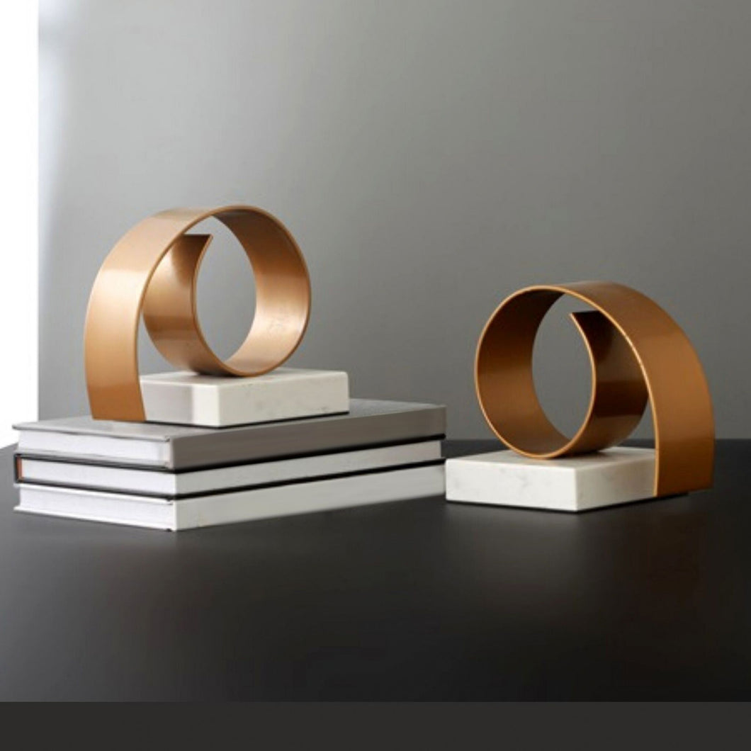 Swirl Marble Bookend