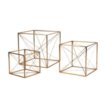 Load image into Gallery viewer, Iron Wire Cube Gold