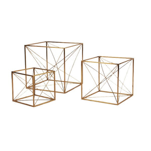 Iron Wire Cube Gold