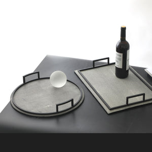 Leather Tray Round