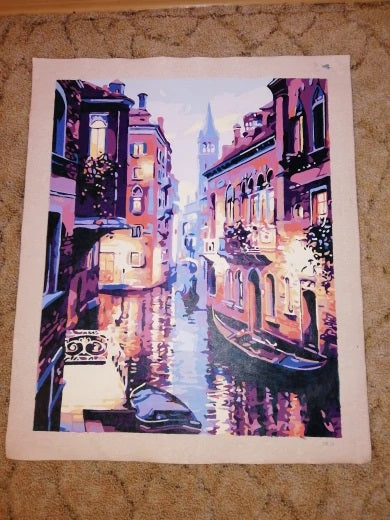 Venice Canal Completed Painting