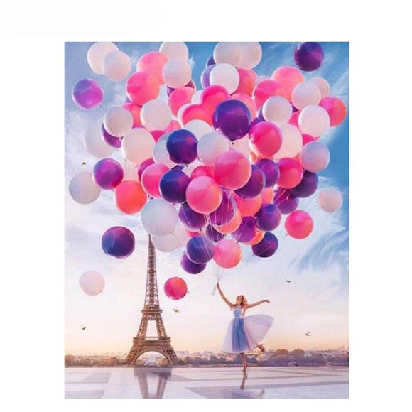 Dancing with Balloons in Paris