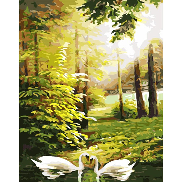 Swans in the Forest
