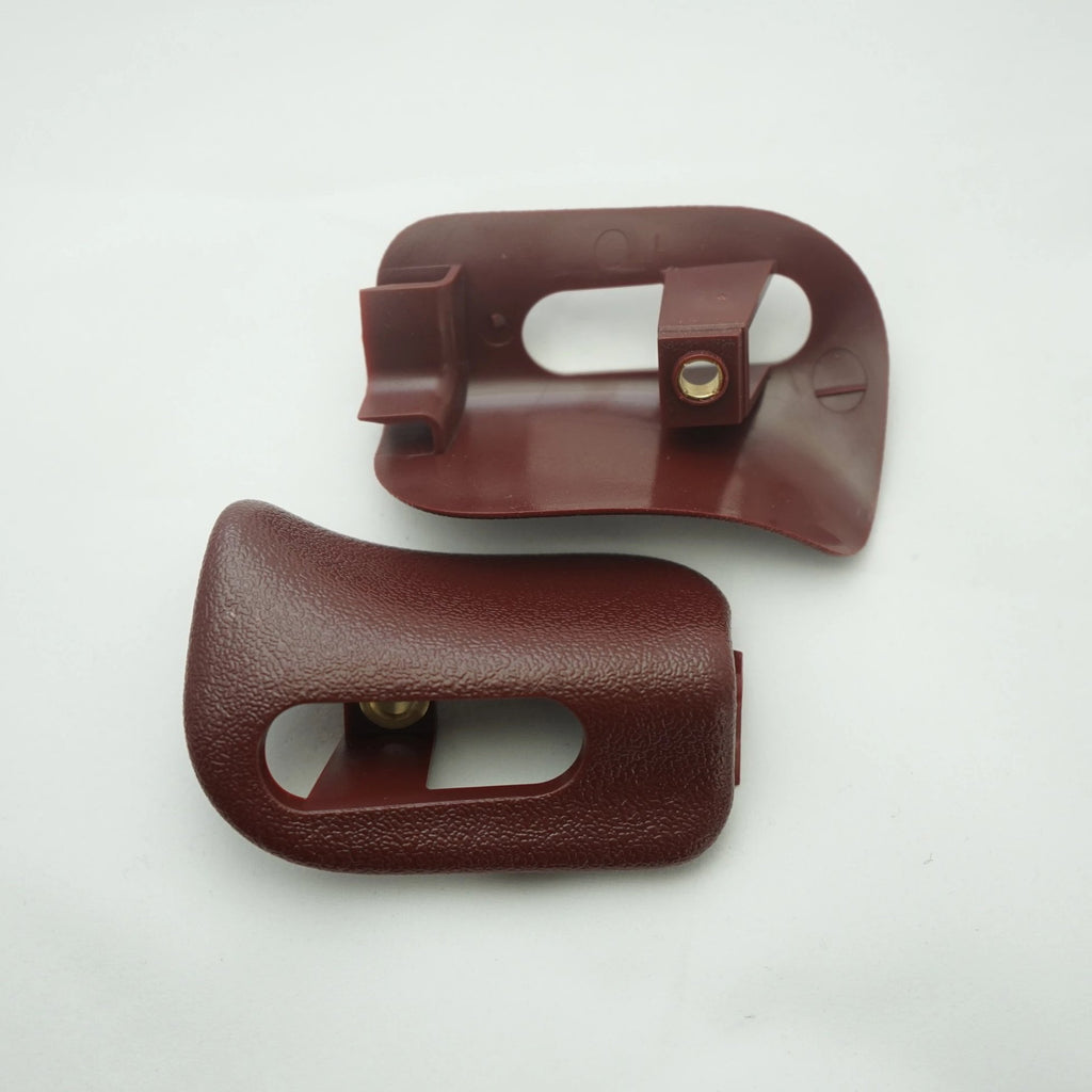 Pair of Sun Visor Trim Caps - Burgundy - Classic Trim Parts