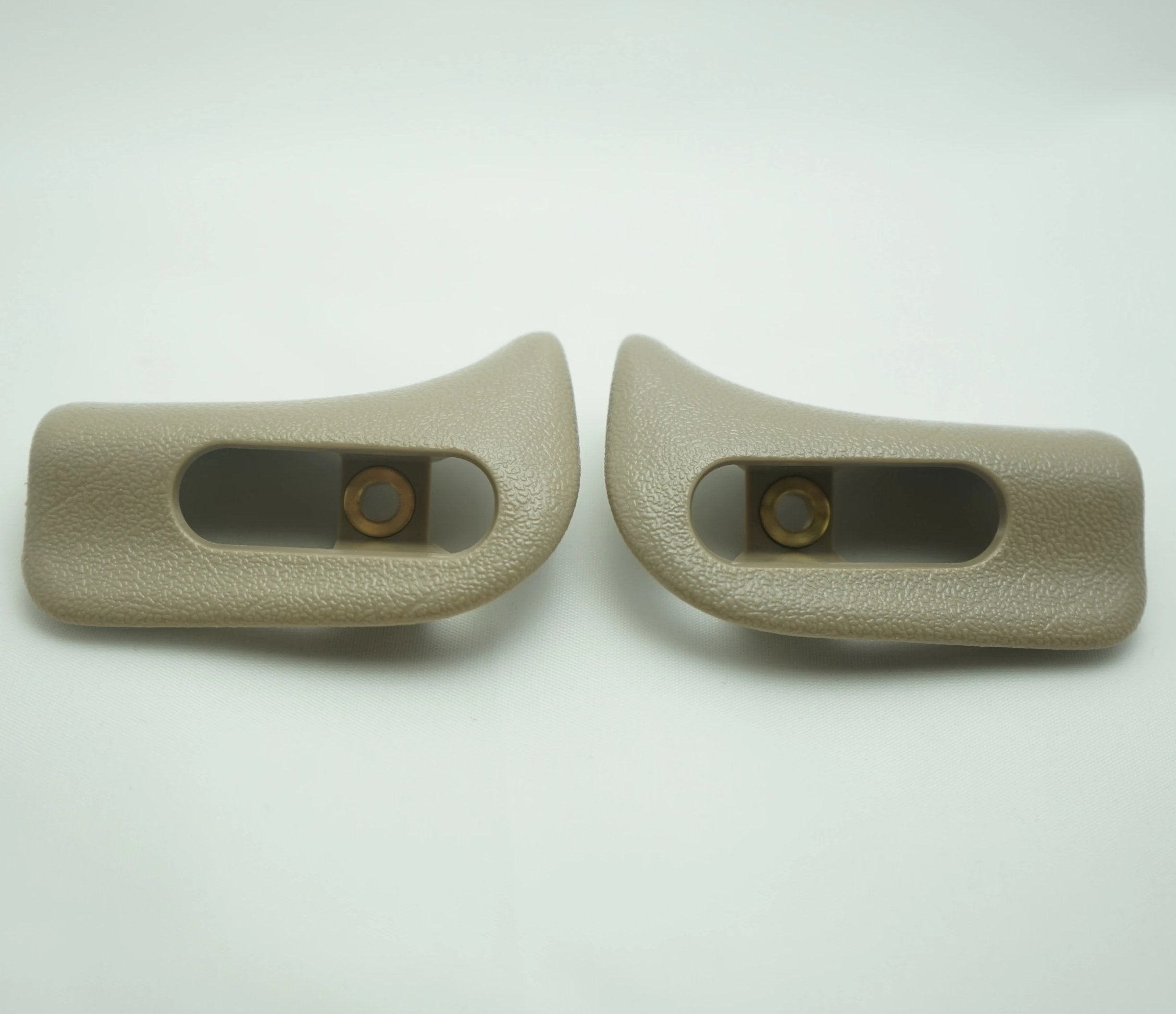 Pair of Sun Visor Trim Caps - Beige / Mushroom - Classic Trim Parts