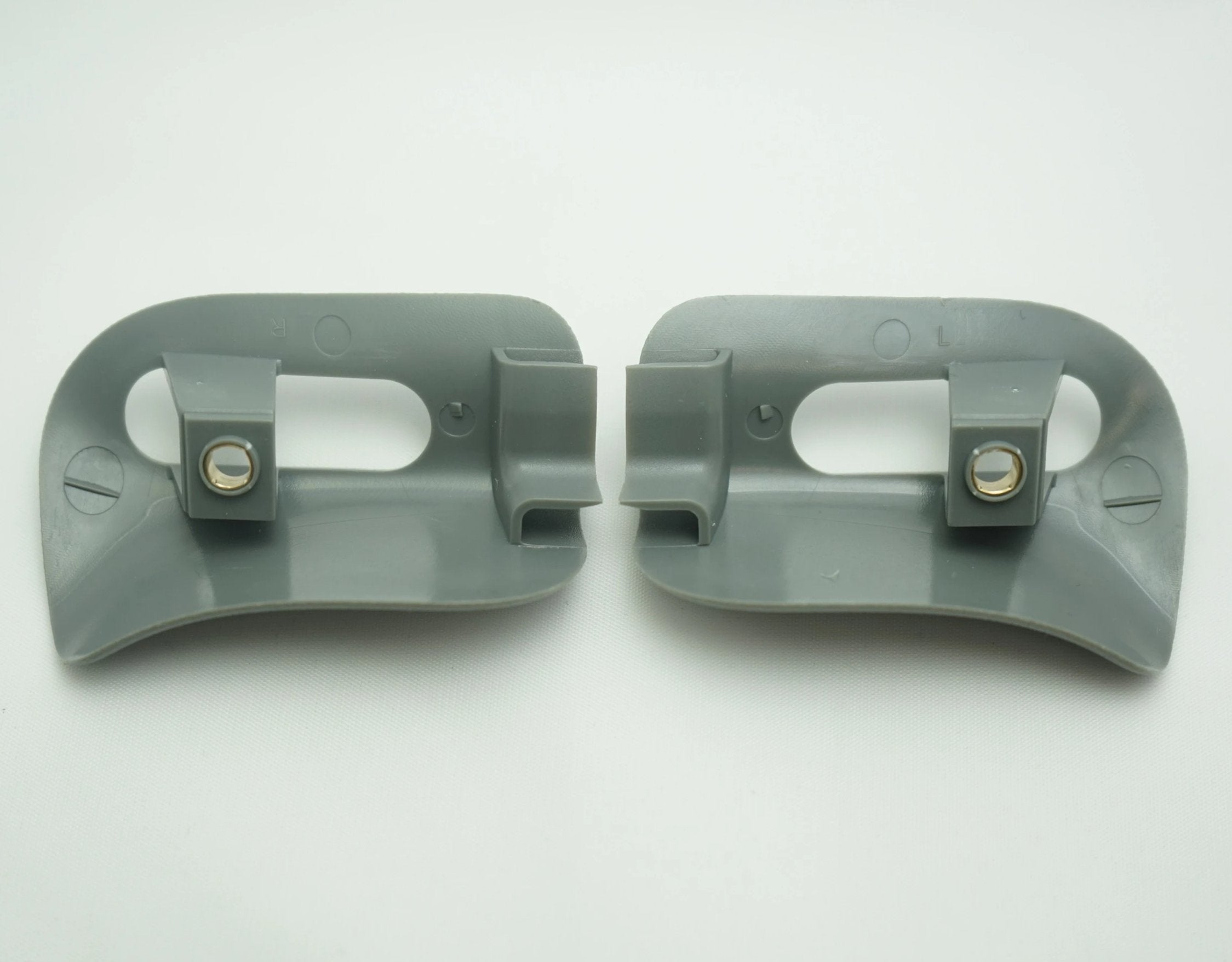 Pair of Sun Visor Trim Caps - Gray - Classic Trim Parts