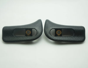 Pair of Sun Visor Trim Caps - Black - Classic Trim Parts