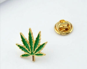 Cannabis Brooch