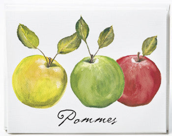 Apple Note Cards - box of 8