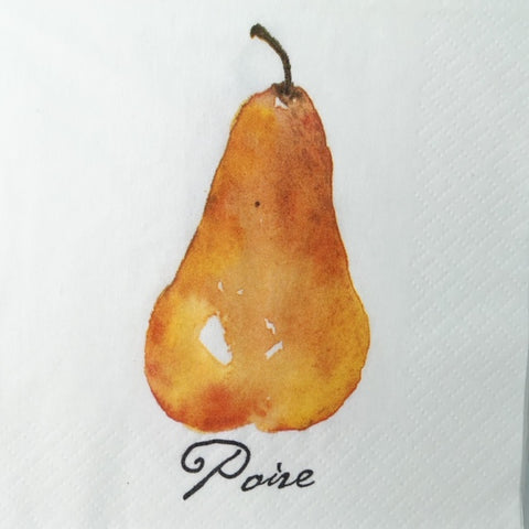 Pear Beverage Napkins