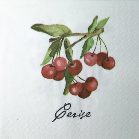Cherry Beverage Napkins