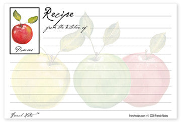 Apple Recipe Cards