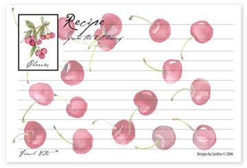 Cherry Recipe Cards
