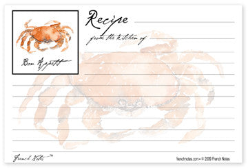 Crab Recipe Cards