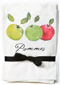 Apple Flour Sack Kitchen Towels