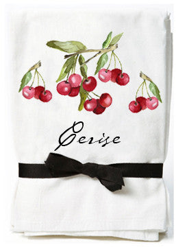 Cherry Flour Sack Towels