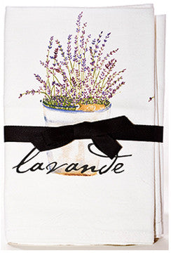 Lavender Bucket Flour Sack Towels