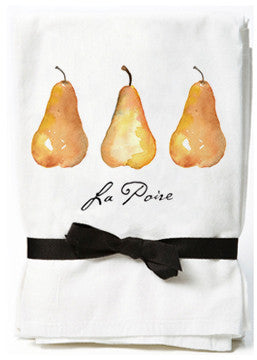Pear Flour Sack Towels
