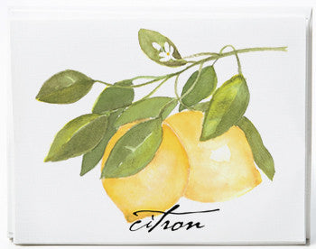 Lemon Note Cards - box of 8