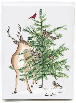 Deer with Tree - box of 8
