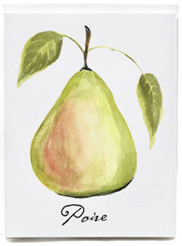 Green Pear Note Cards - box of 8