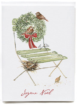 Holiday Chair Note Cards - box of 8   NEW
