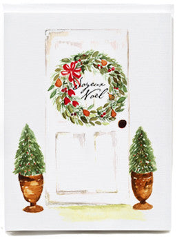 Holiday Door Note Cards - box of 8
