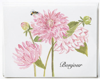 Pink Dahlia Note Cards - Box of 8