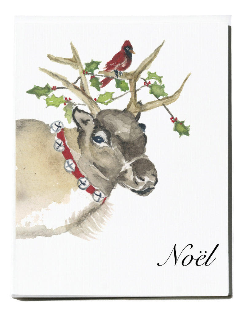 Reindeer Note Card - Box of 8