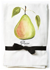 Green Pear Flour Sack Towels
