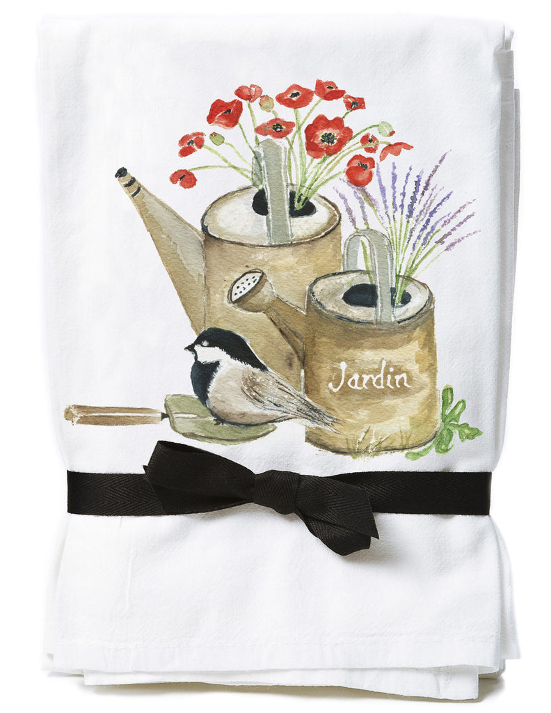 Watering Cans Flour Sack Towels  NEW