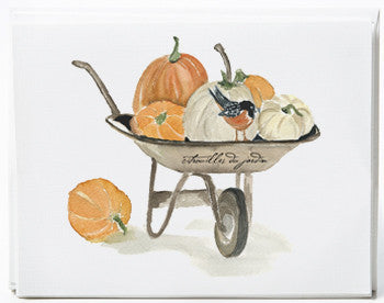 Wheelbarrow Note Cards - box of 8   NEW