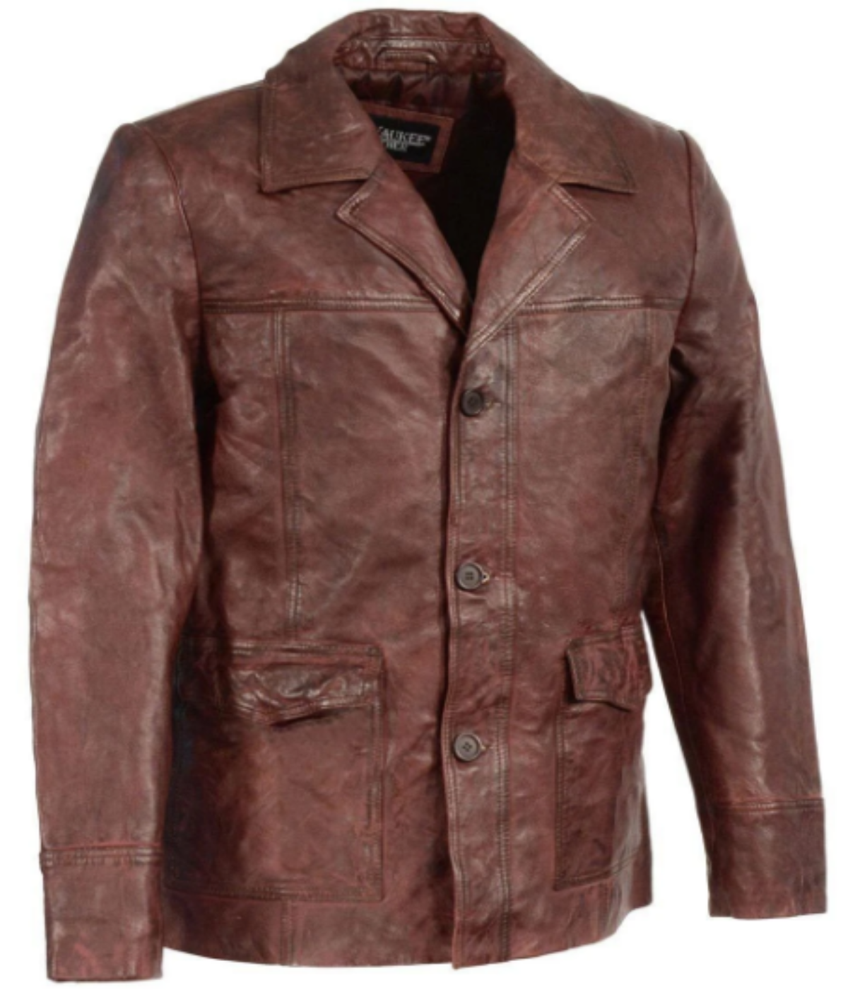 Leather Car Coat Jacket