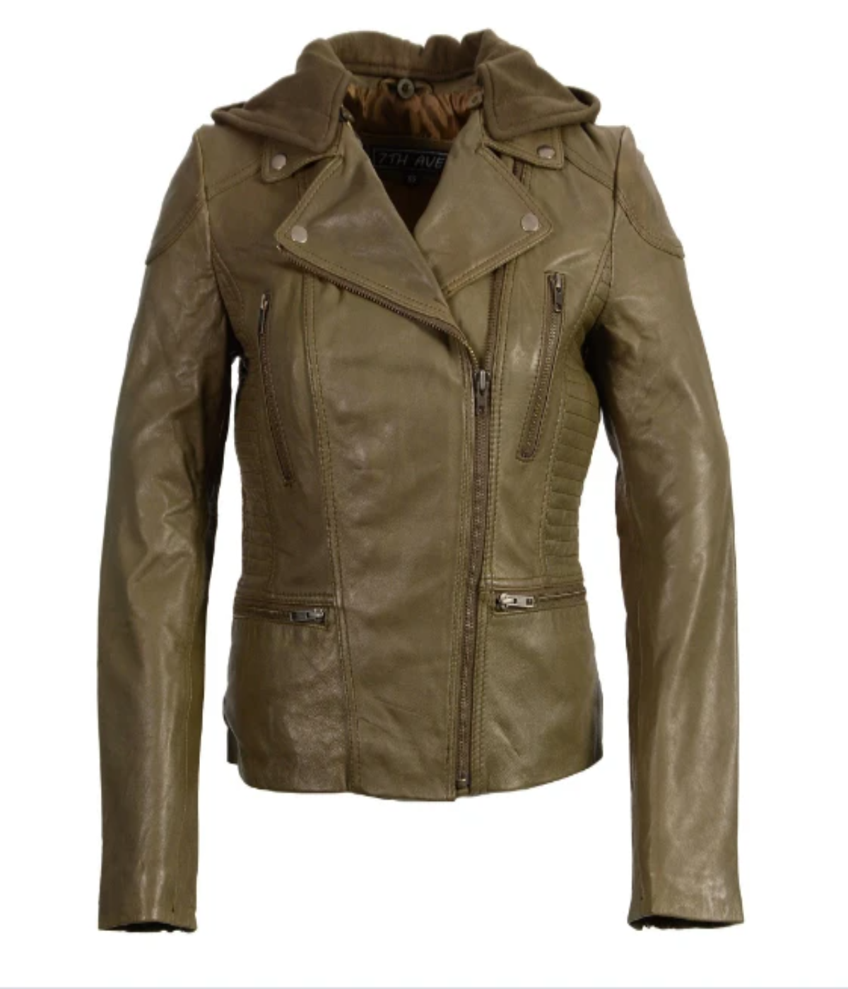 Jacket Leather  Look Zipper