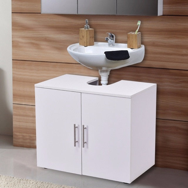 Non Pedestal Under Sink Bathroom Storage