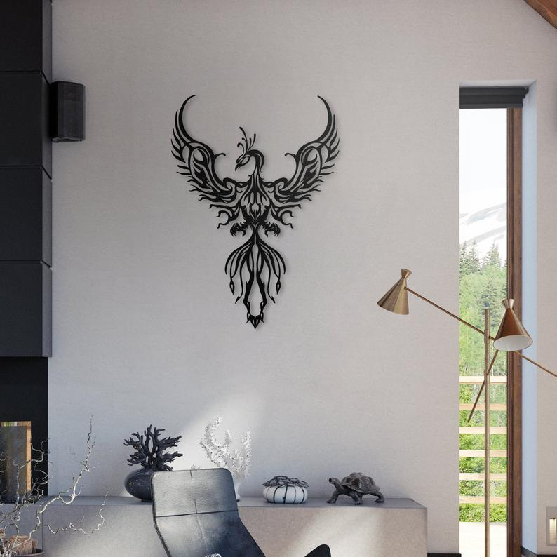 Phoenix Metal Wall Art