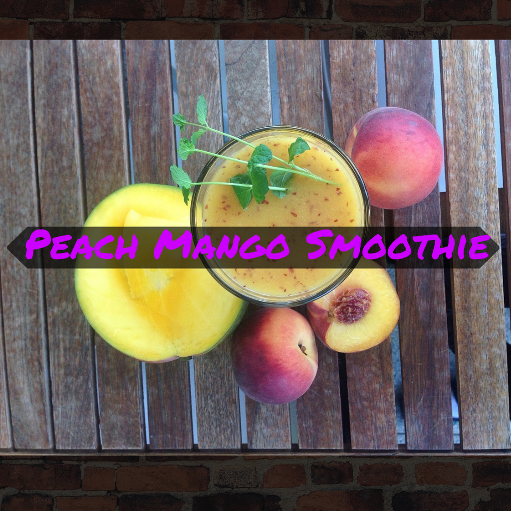 peach mango smoothie