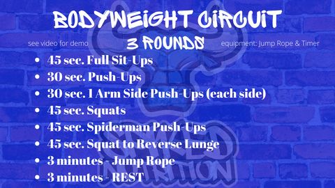 body weight workout with jump rope spiked nutrition fact