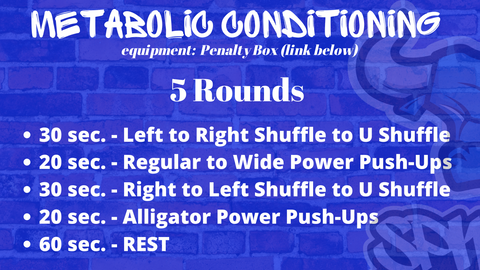 Penalty Box Metabolic Finisher Workout