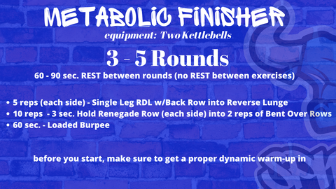 Back and Glute Metabolic Finisher with Kettlebells Spiked Nutrition