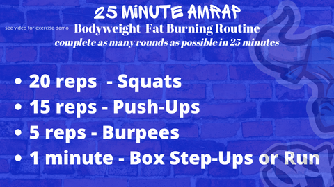 Basic AMRAP Workout Spiked Nutrition